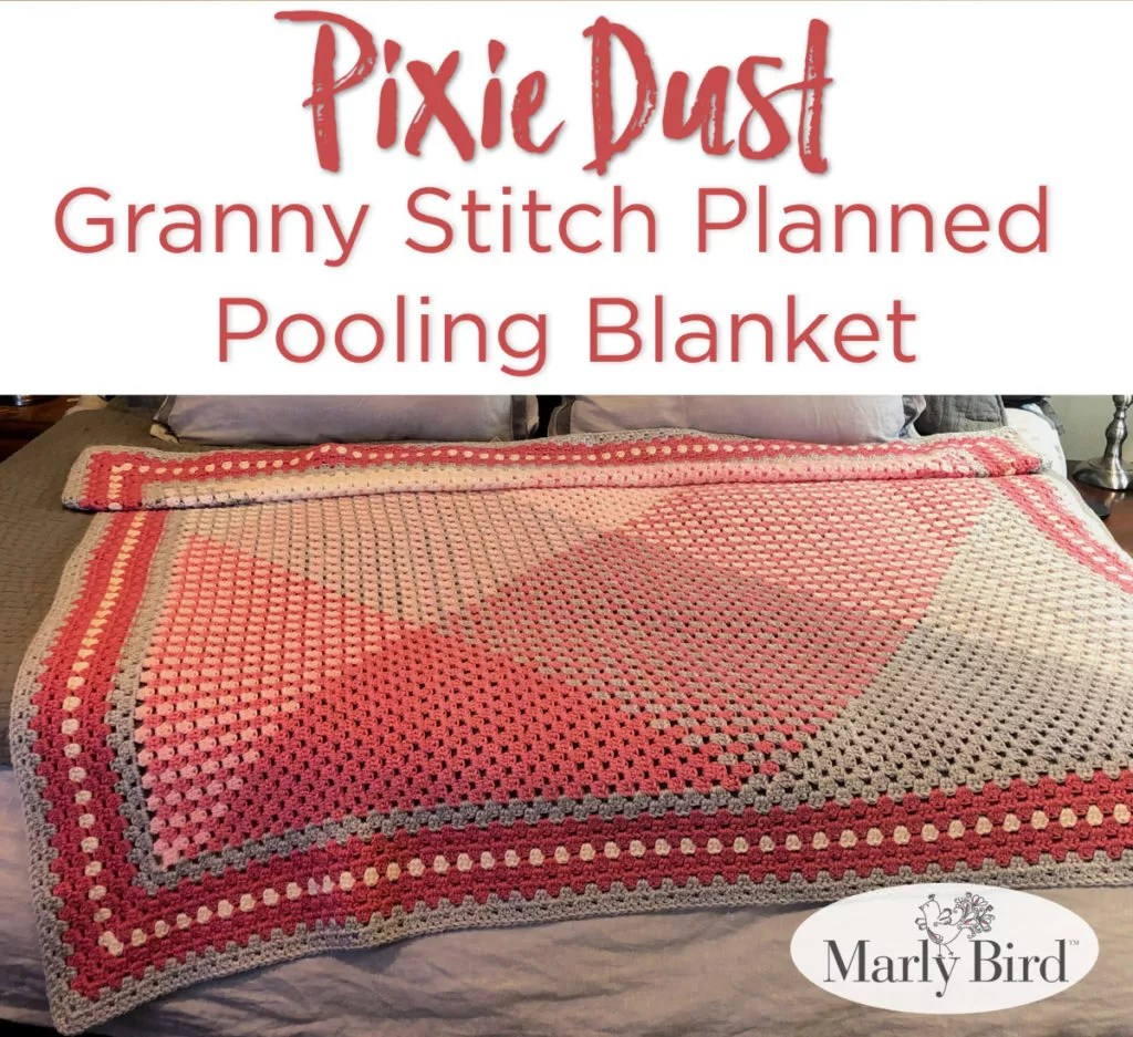 Granny Stitch Planned Pooling Blanket by Marly Bird -- Free Pattern