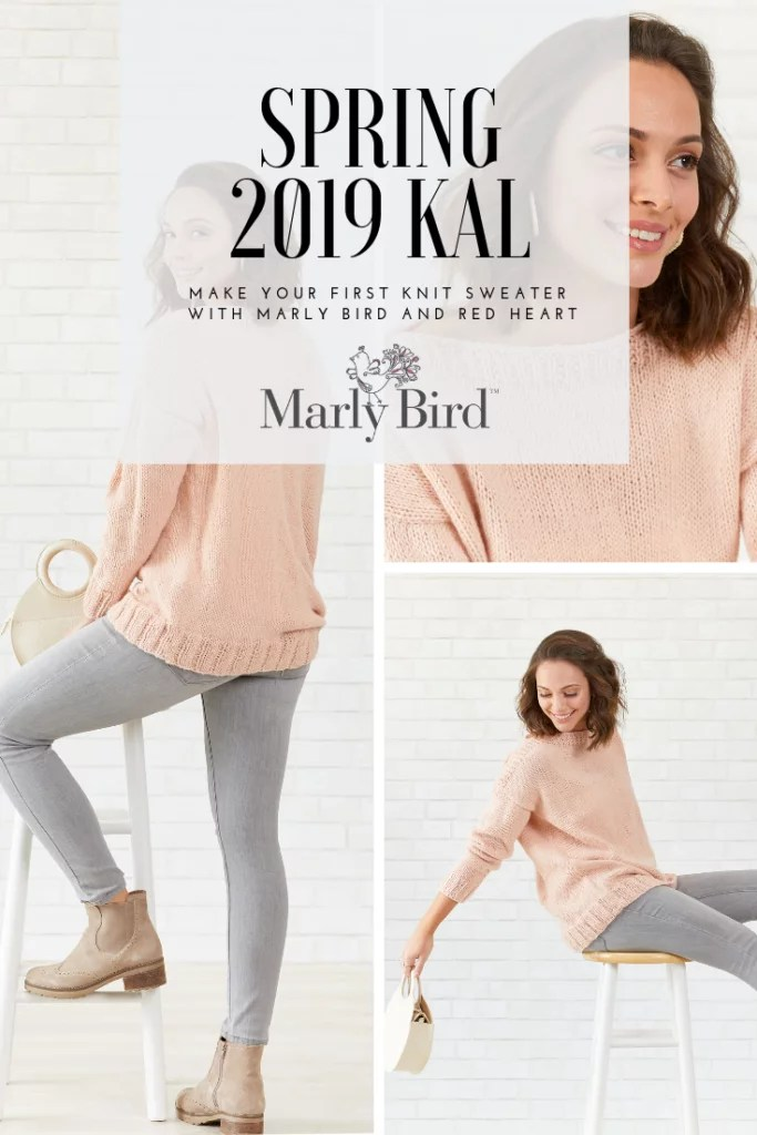 My First Knit Sweater with Marly Bird Knit-along