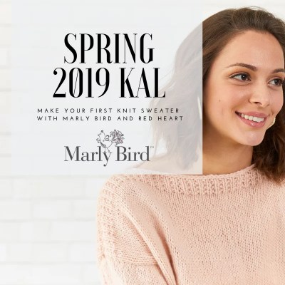 Announcing the 2019 Spring KAL with Marly Bird and Red Heart