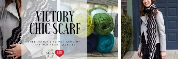 FREE Crochet Scarf Pattern-Victory Chic Scarf