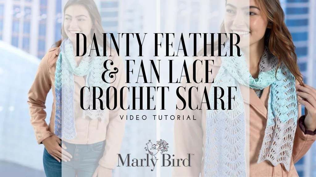 Video Tutorial-Making the Fan Lace Crochet Scarf-Beginner crochet lace