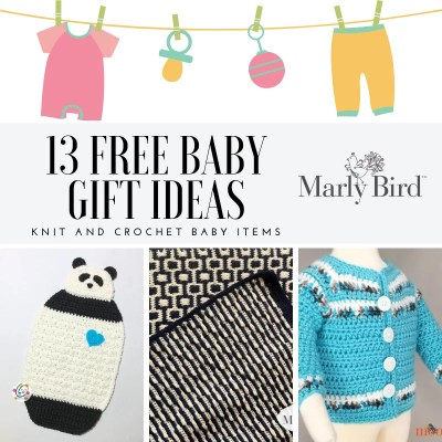 13 FREE Knit and Crochet Baby Projects