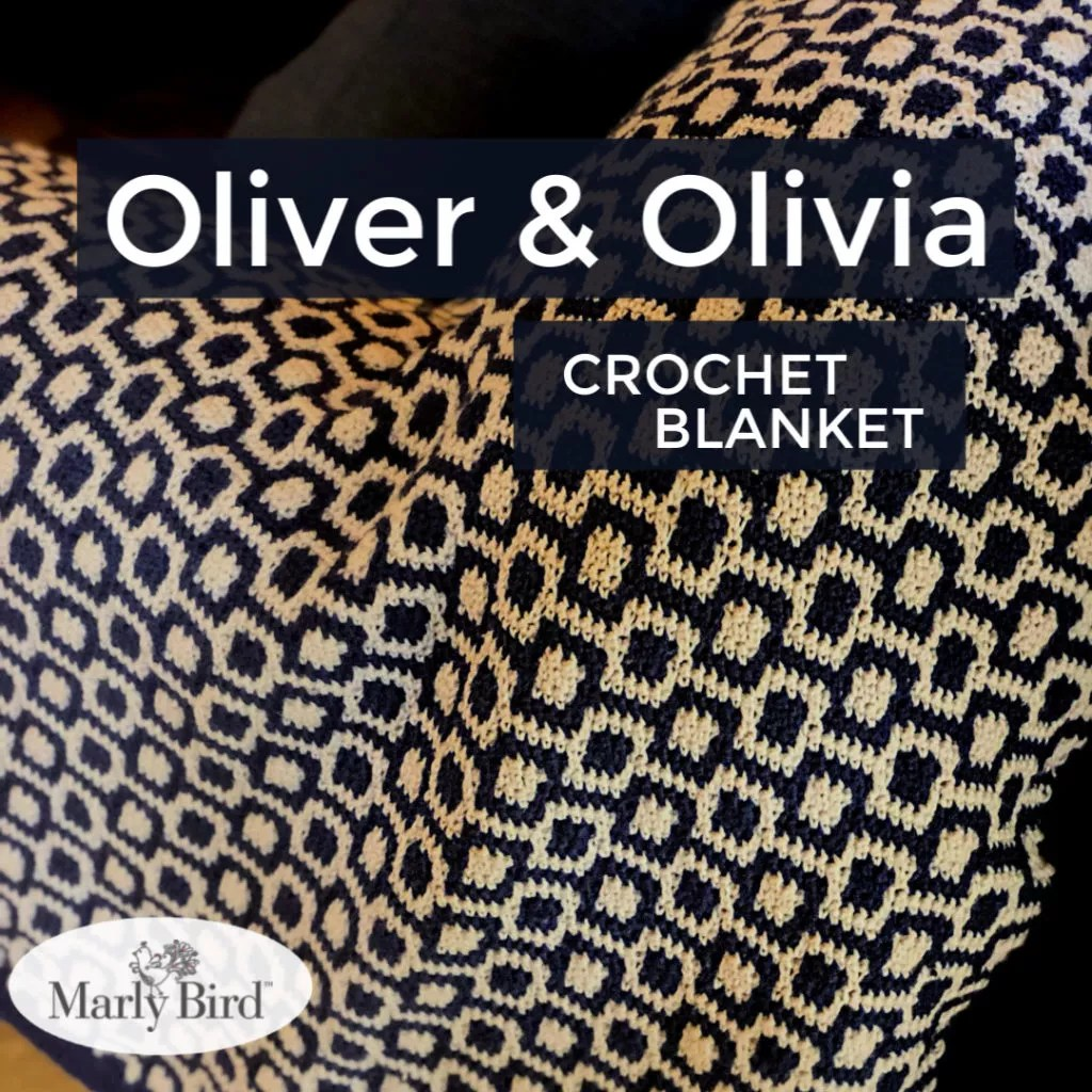 Oliver and Olivia Crochet Blanket by Marly Bird -- Free Crochet Pattern