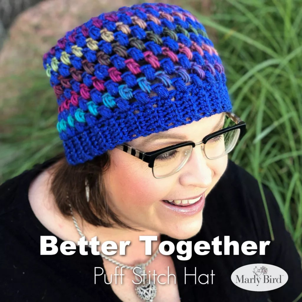 Better Together Puff Stitch Hat Pattern by Marly Bird