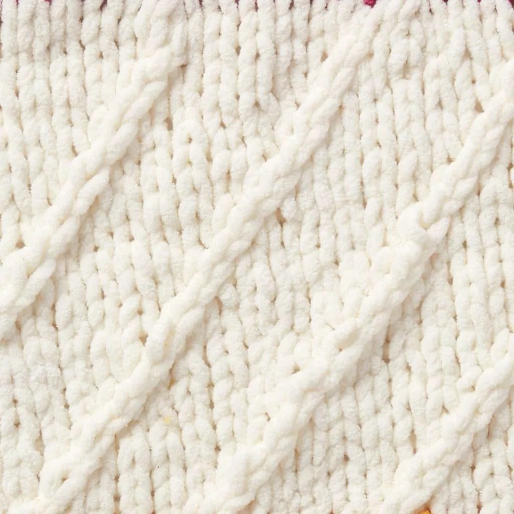 2019 Bernat Stitchalong Week 1 Knit Blanket