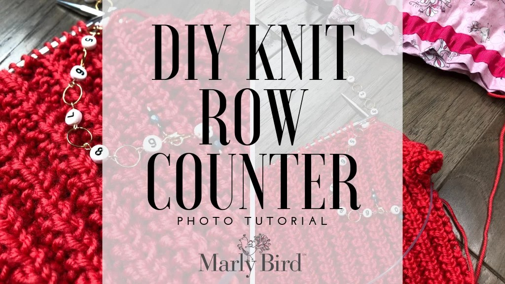 DIY Knit Row Counter Tutorial