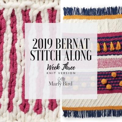 JOANN Stitchalong Bernat Knit Blanket Clue 3