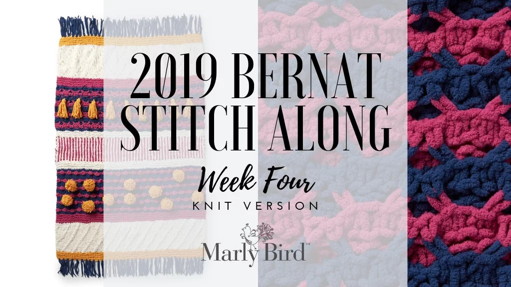 Yarnspirations and JOANN Bernat Stitch along week 4