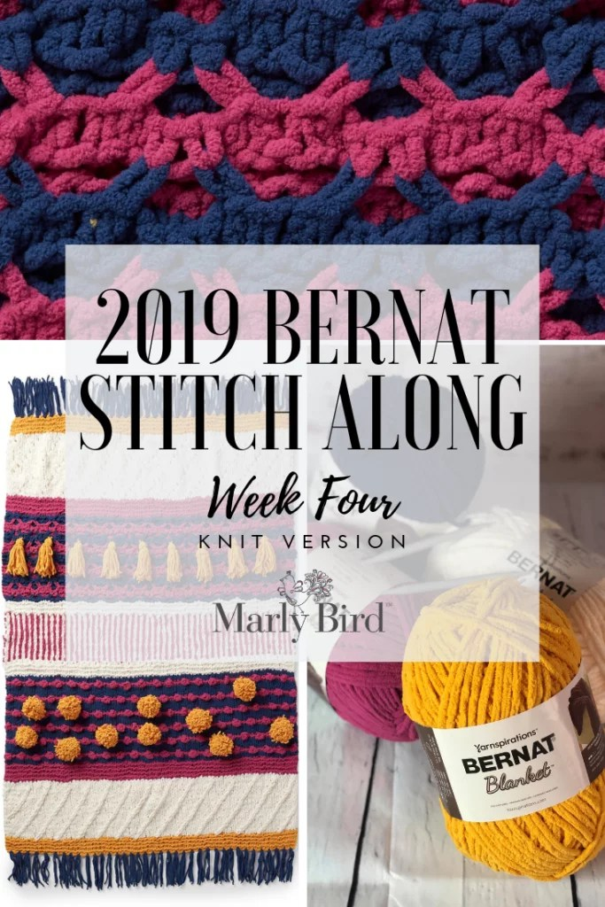 Bernat Stitchalong week 4 with Yarnspirations and JOANN