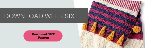 Download the instructions for week 6 of the Bernat Stitchalong