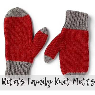 Knit Mittens for the Family