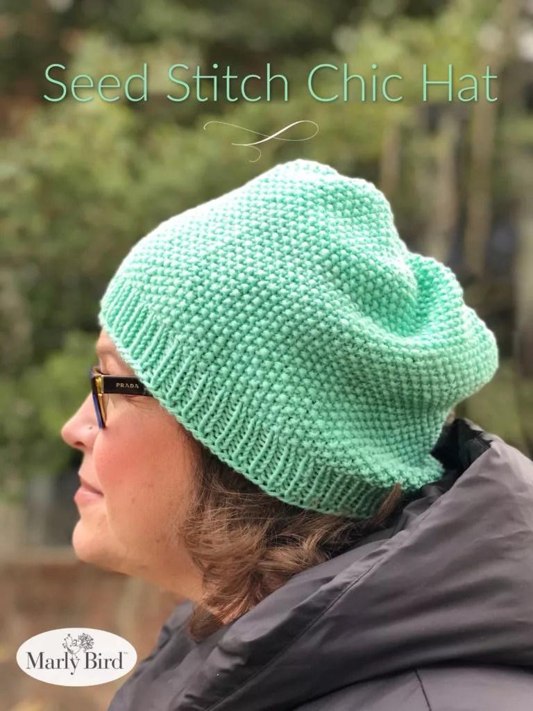 Seed Stitch Knit Beanie
