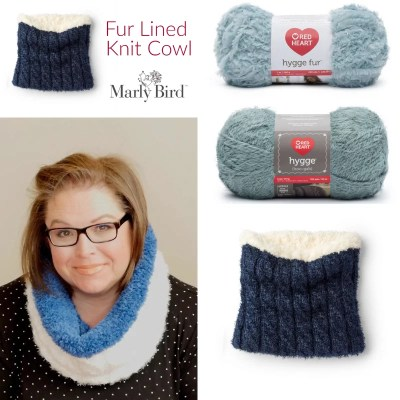 Knit Cowl with Fur Lining Video Tutorial
