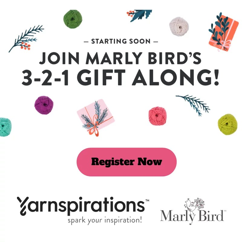 Register for the 3-2-1 Gift Along with Marly Bird, Knit and Crochet gift ideas