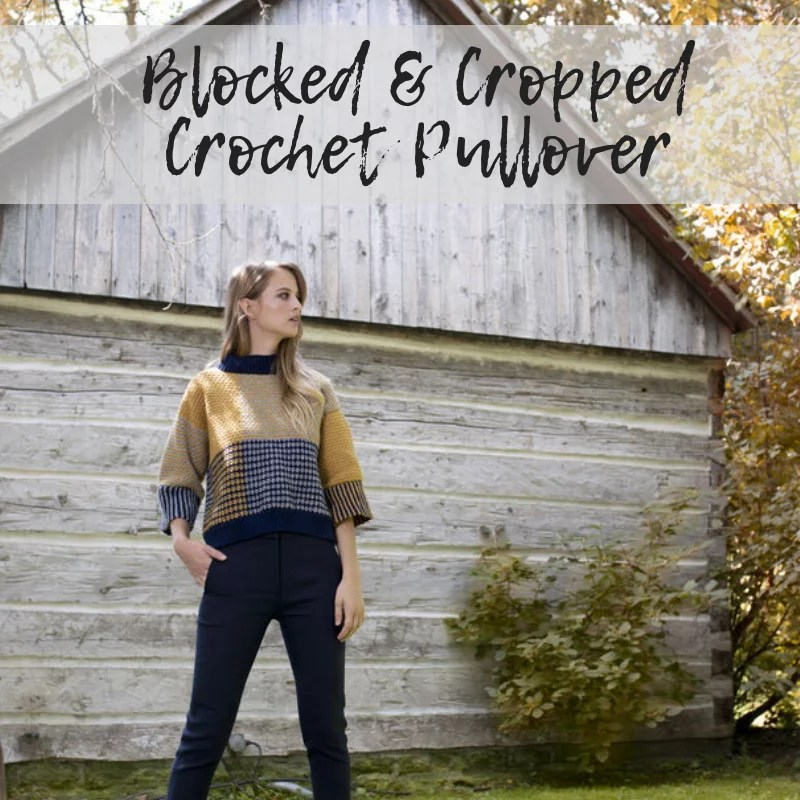 FREE Cropped Crochet Sweater from yarnspirations