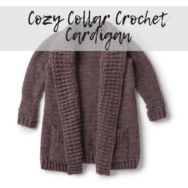 Download the FREE Crochet Cardigan with Collar pattern