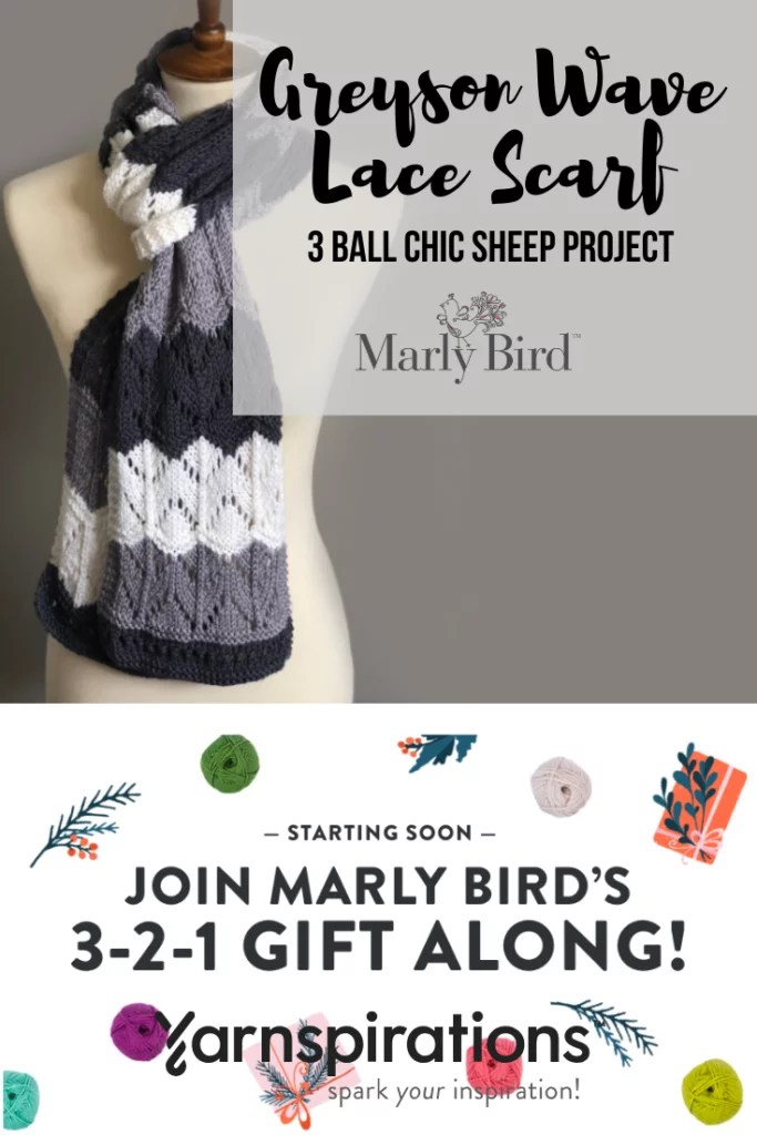 Video Tutorial for the Greyson Wave Lace Scarf-Knit 3 ball project