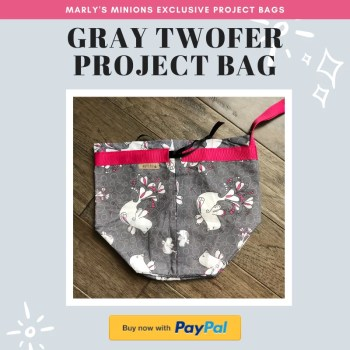 Purchase an Exclusive Marly's Minions Gray Twofer Project Bag