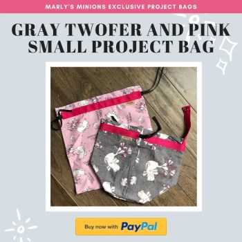 Shop Marly's Minions Exclusive Project bags-Gray Twofer and Pink Small Project Bag Set