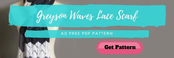 Download the FREE Greyson Waves Knit Lace Scarf from Yarnspirations Gift Along
