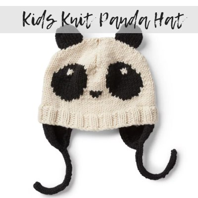 Knit Kids Panda Hat