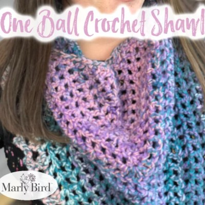 One Ball Crochet Shawl || 24 Quick Projects