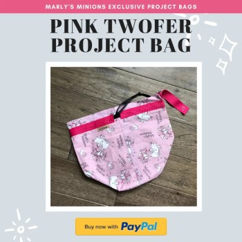 Purchase and exclusive Marly's Minions Pink Twofer Project Bag