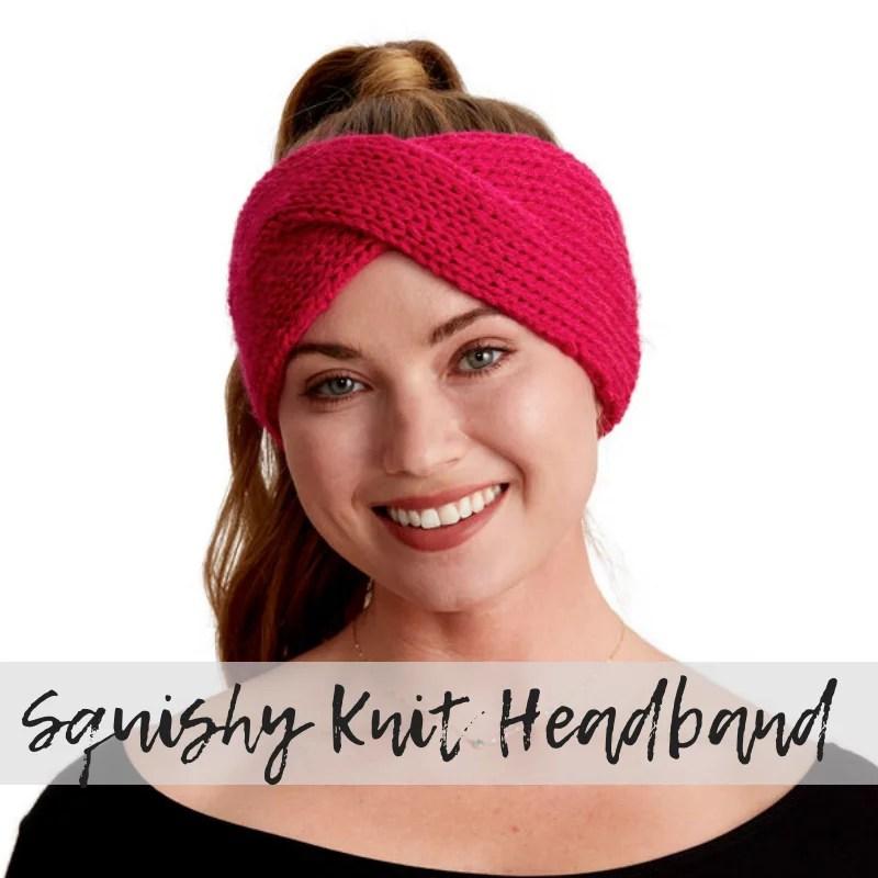 Download the FREE Squishy Knit Twist Headband Pattern