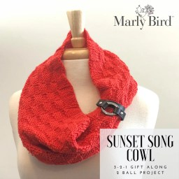 Sunset Song Cowl in the 3-2-1 Gift Along with Marly Bird and Yarnspirations