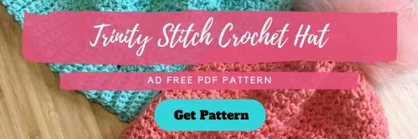 Download the FREE Trinity Stitch Crochet Hat