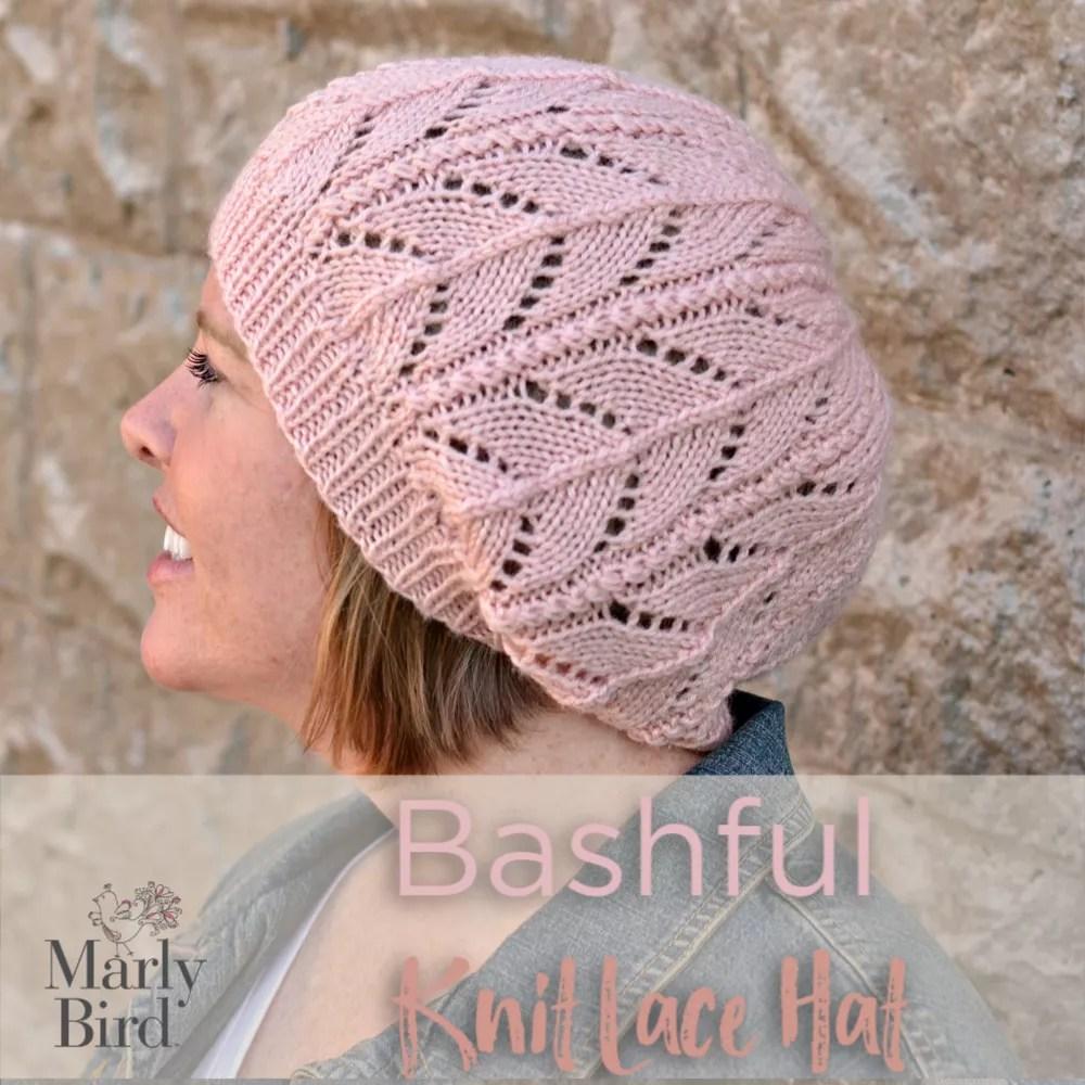 Bashful Knit Lace Hat