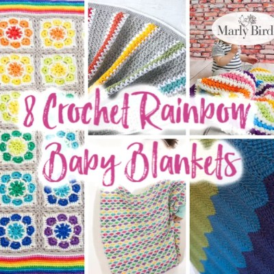 Crochet Rainbow Blankets for Rainbow Babies