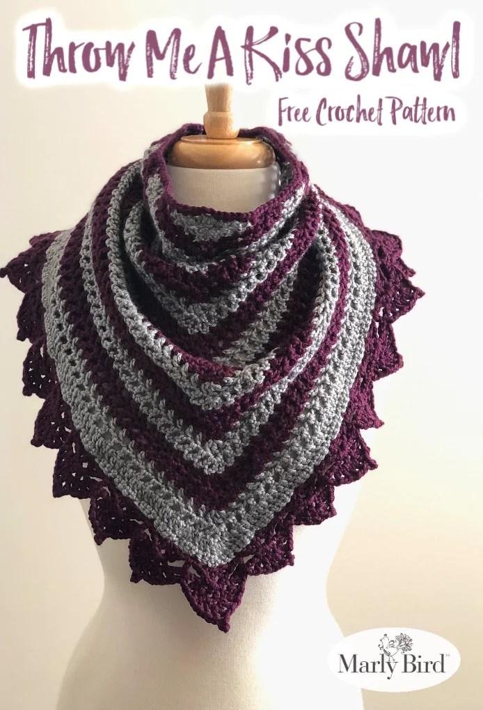 FREE Crochet Lace border shawl pattern