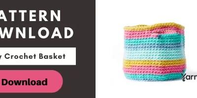 Striped Beginner Crochet Basket