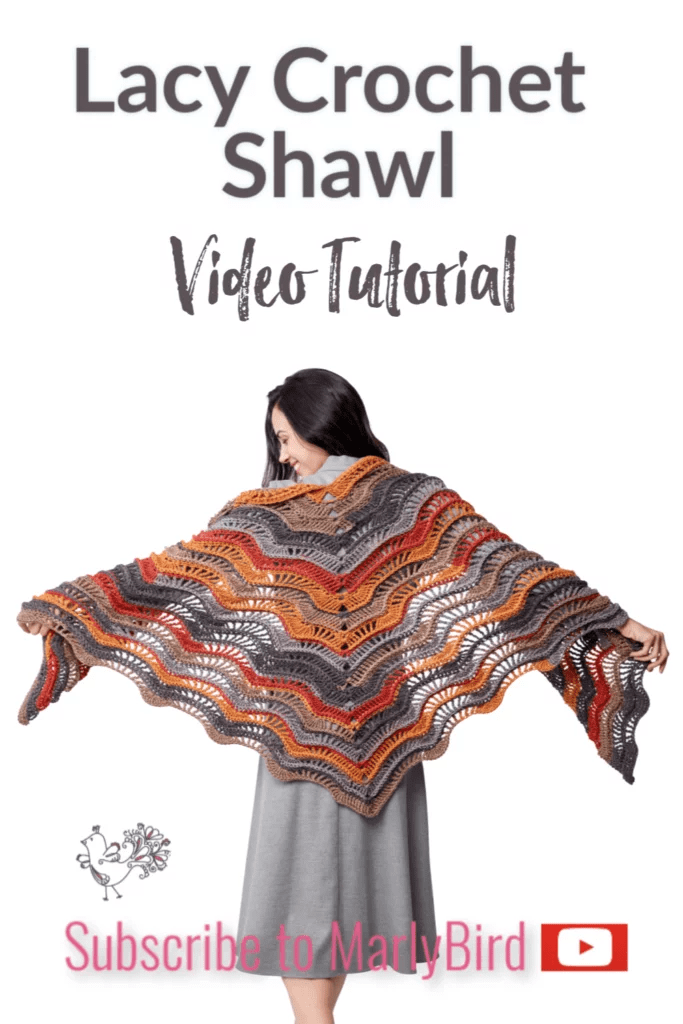 FREE Lacy Crochet Shawl Pattern and video tutorial