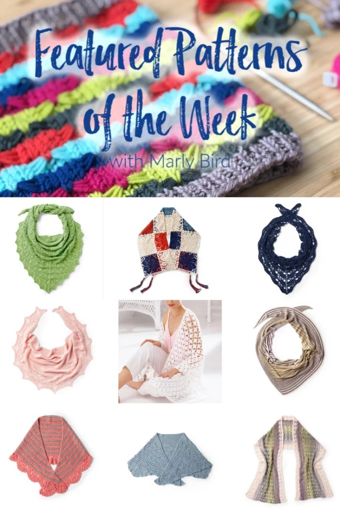 10 FREE knit and crochet spring shawl patterns from Yarnspirations