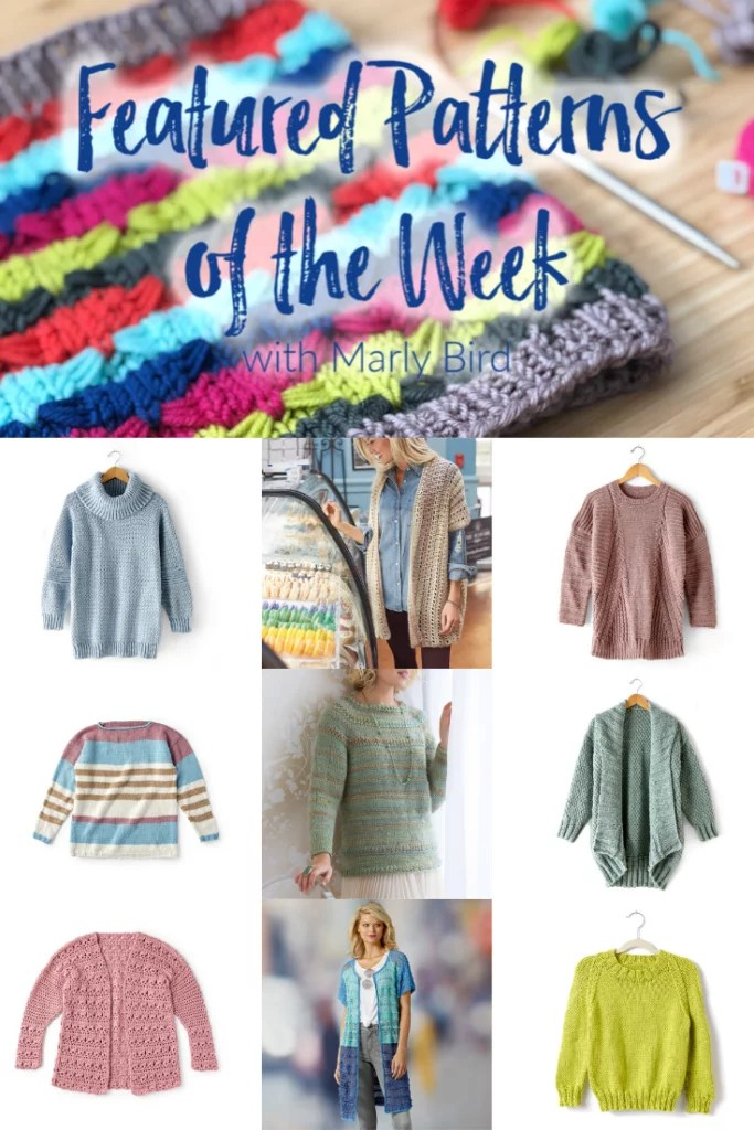 10 FREE Spring Sweater patterns from Yarnspirations