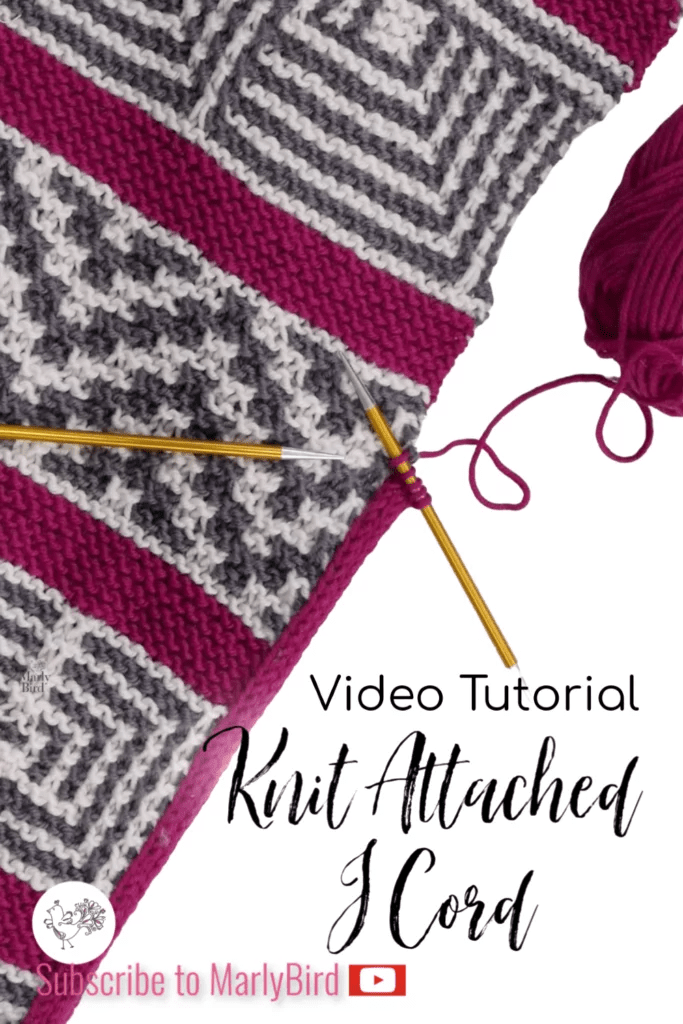 Attached Knit I cord video tutorial