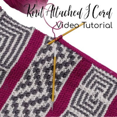Attached Knit I Cord || Perfect Knit Edging