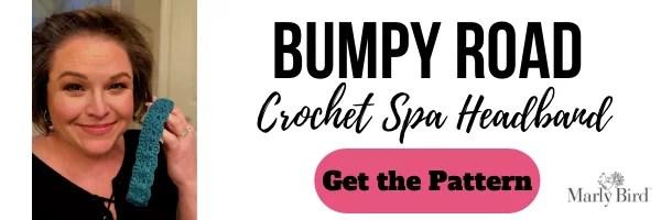 FREE Bumpy Road Crochet Spa Headband