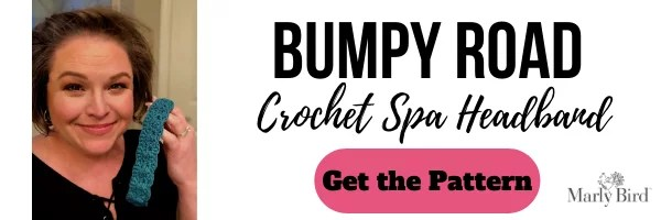 FREE Bumpy Road Crochet Spa Headband