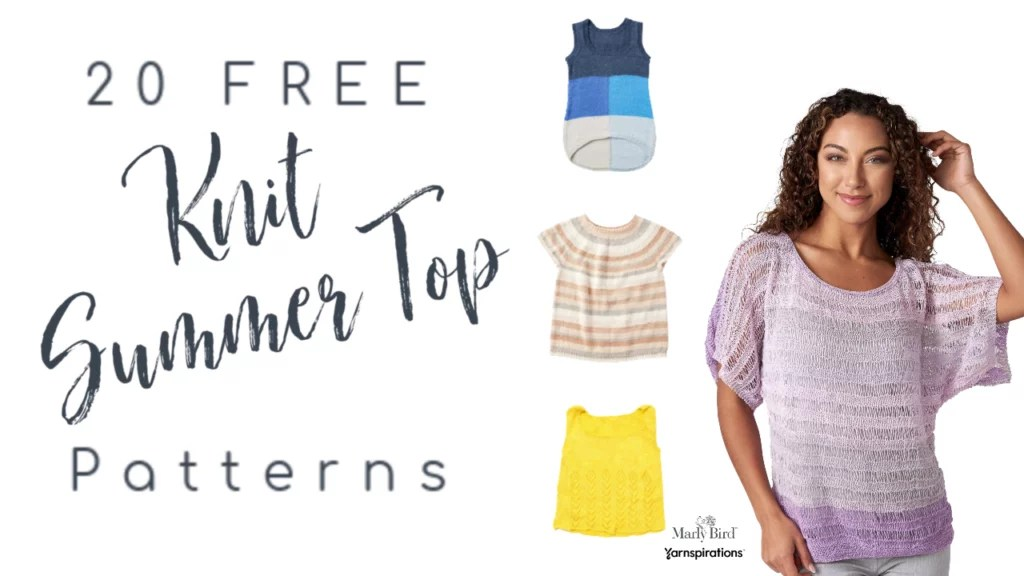 Knit Summer Tops FREE from Yarnspirations
