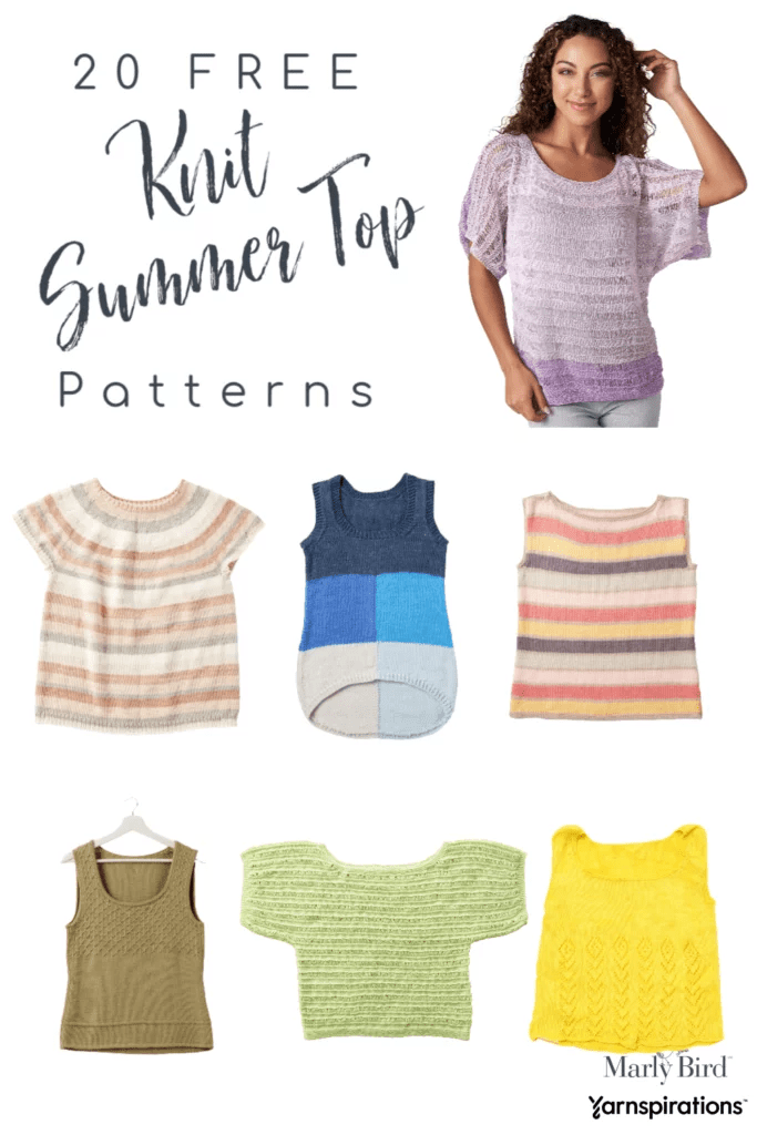 Knit Summer Tops 20 FREE patterns