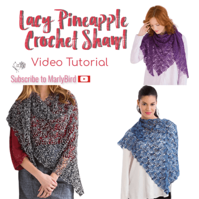 Lacy Pineapple Stitch Crochet Shawl