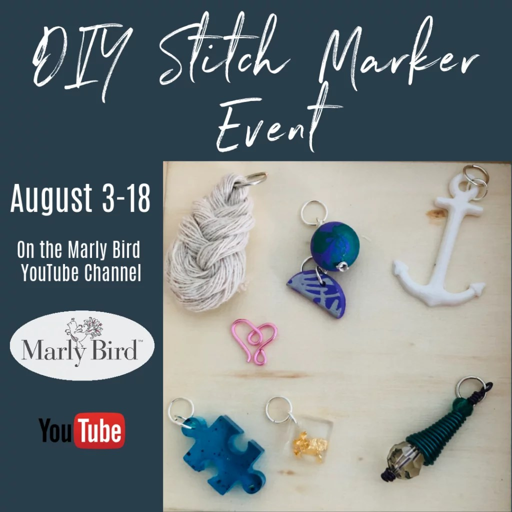 DIY Stitch Marker Event with Marly Bird | Make your own knit or crochet stitch markers