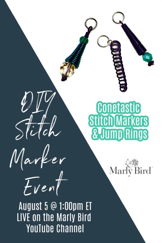 Learn to make your own jump rings and DIY Stitch Markers for knitting and crochet