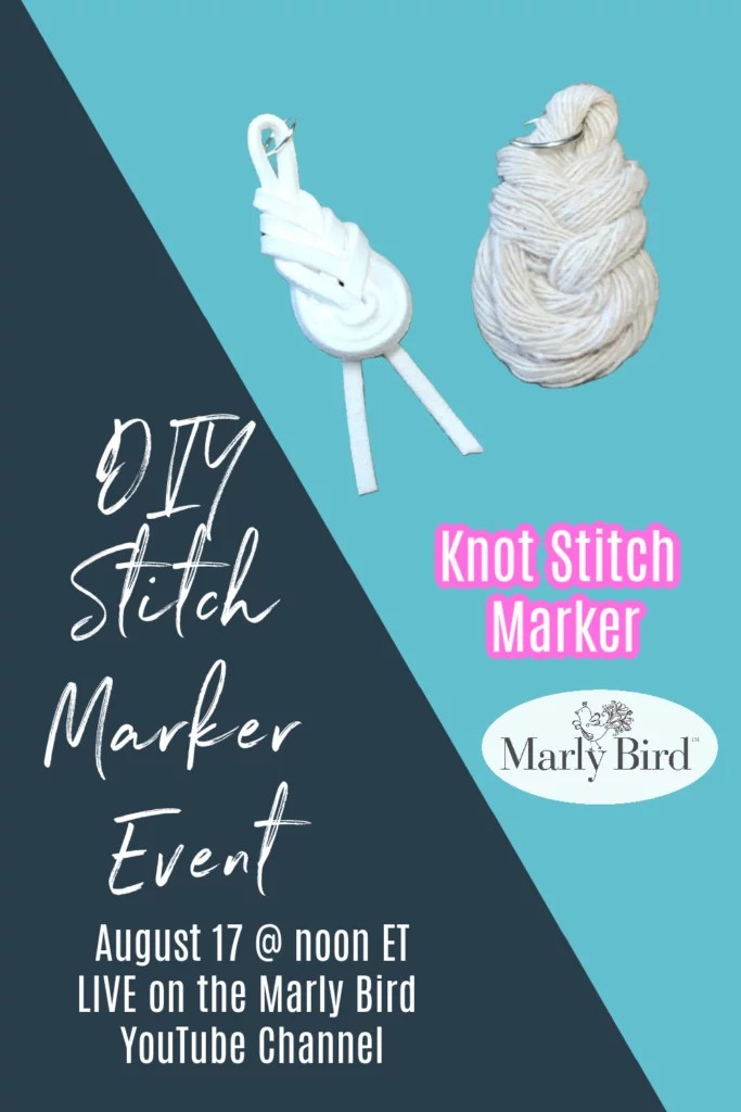 DIY stitch marker for knitting and crochet | Pipa Knot Stitch Markers