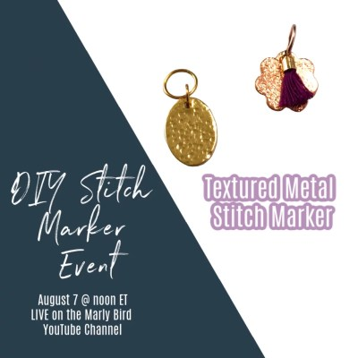 DIY Textured Metal Stitch Markers