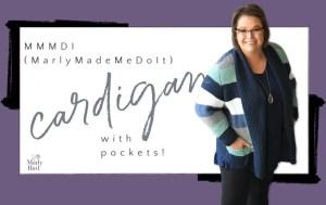 MMMDI Garter Stitch Knit Cardigan with Pockets by Marly Bird