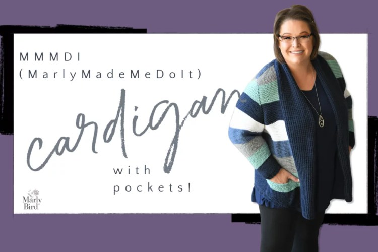 MMMDI Garter Stitch Knit Cardigan with Pockets by Marly Bird